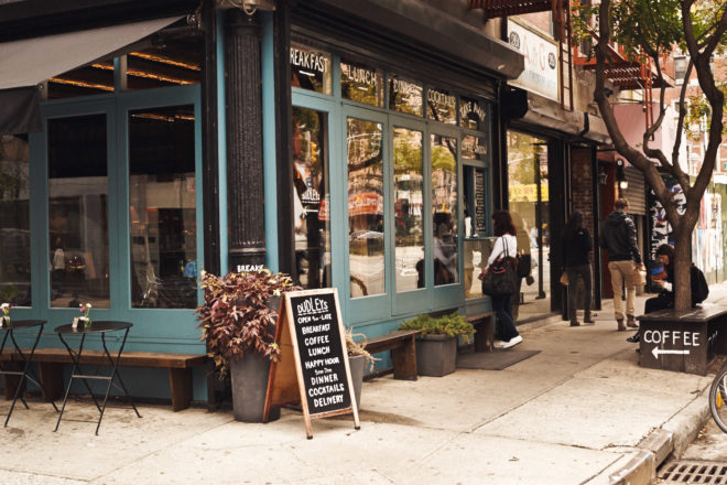 Dudley's cafe in Lower East Side, New York City.