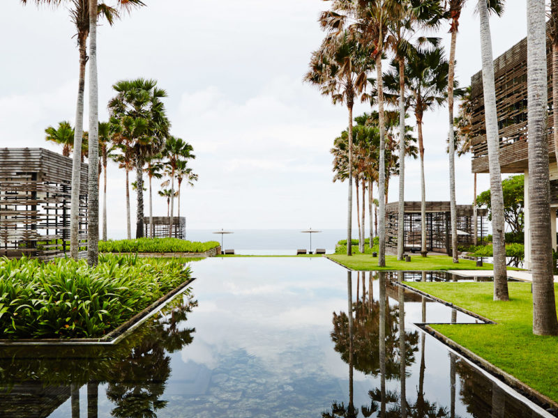 A spectacular view from reception from Alila Uluwatu.
