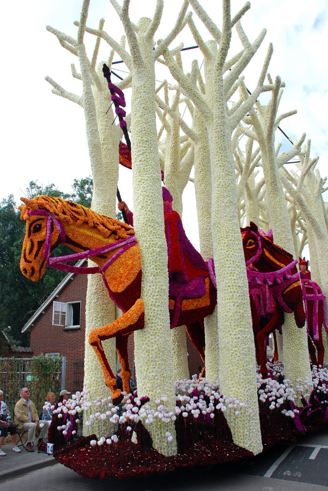 Bloemencorso in Zundert, the Netherlands