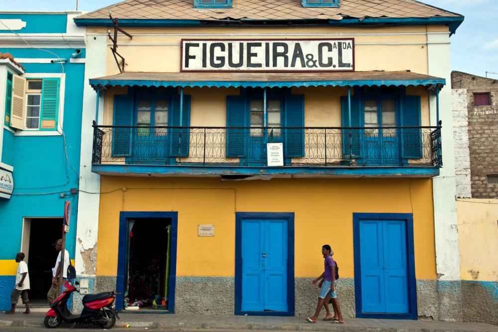Colourful buildings adorn São Vicente.