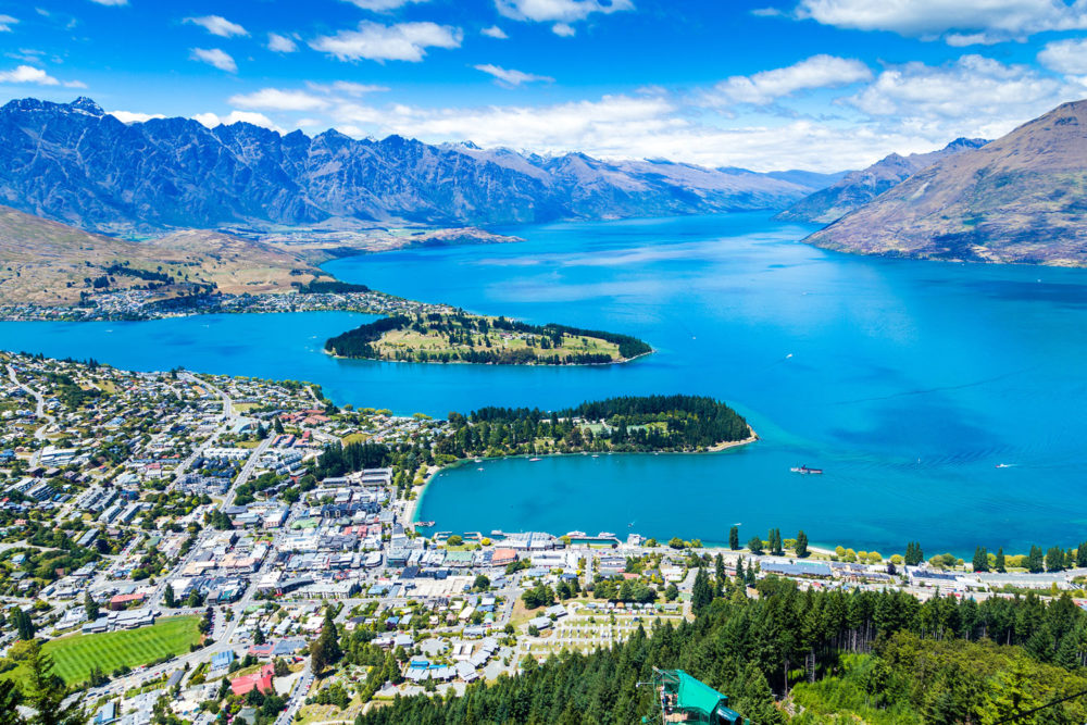 Queenstown on New Zealand's South Island.