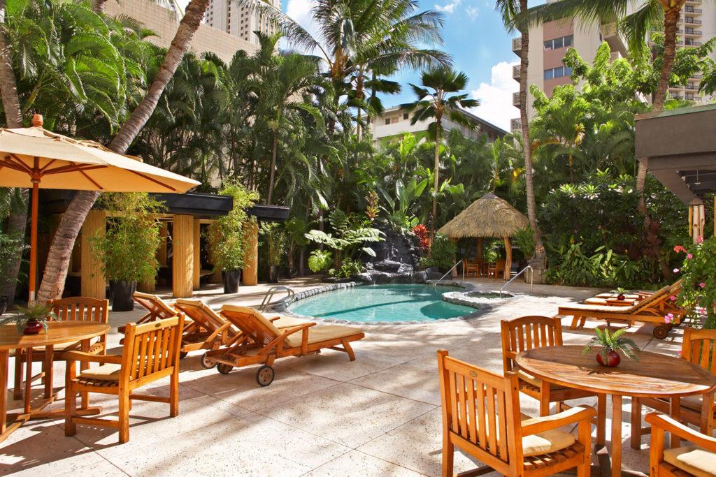 The pool at Aqua Bamboo Waikiki.