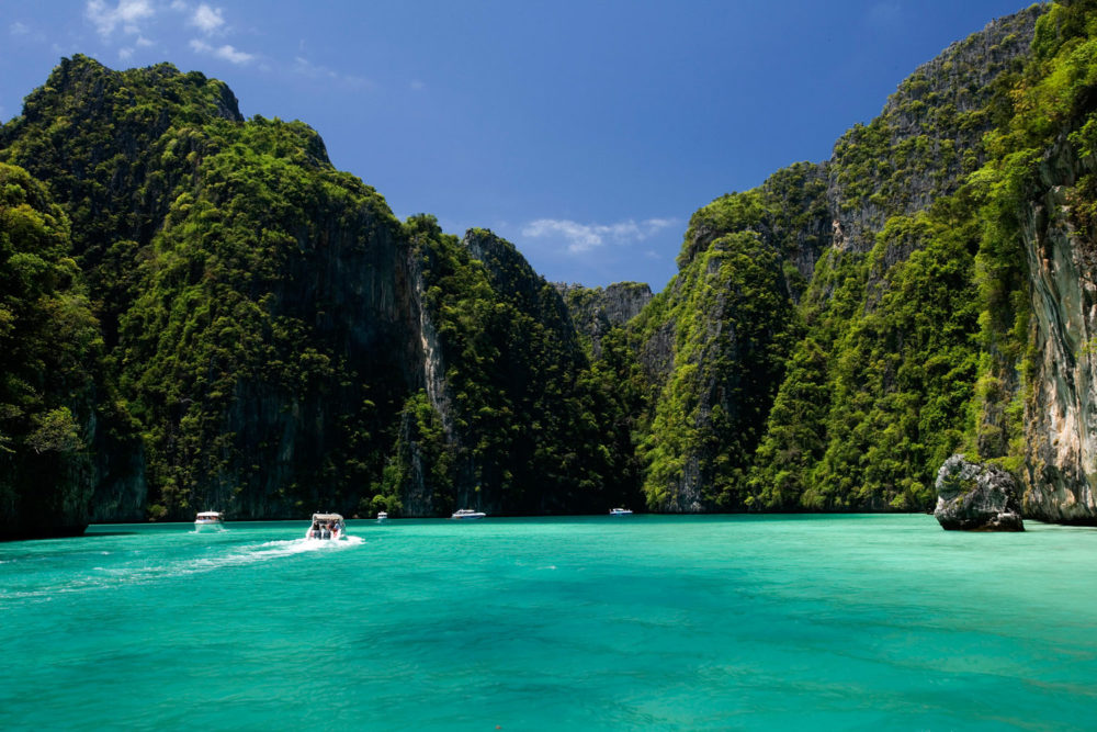 Krabi and Phang-Nga beaches, Thailand.