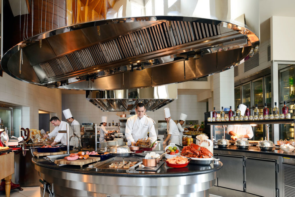 Friday Brunch at Traiteur at the Park Hyatt promises an elevated show kitchen where you can watch the team of classically-trained French chefs work their magic.