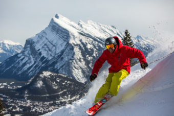 kiing at Mt Norquay Banff
