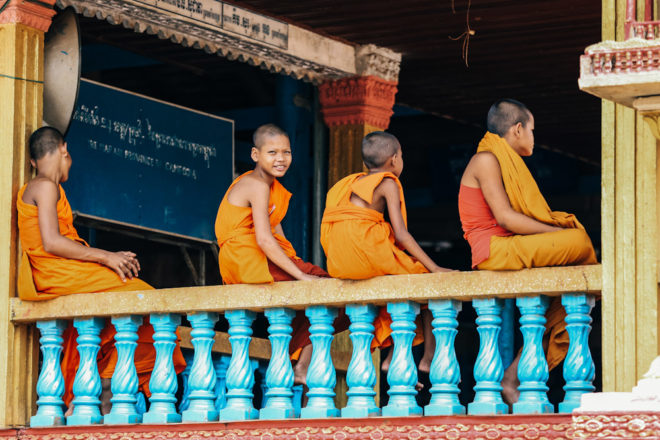 cambodia wat hanchey temple young monk