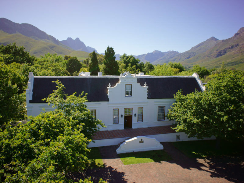 South Africa Stellenbosch Lanzerac Hotel Cape Winelands Jonkershoek