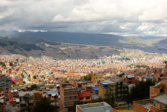 The city of La Paz