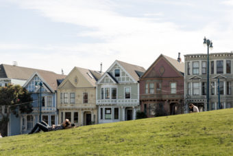 Alamo Square Park Victorian houses Haight