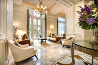 Singapore Fullerton Hotel Presidentail Suite living room marble floor