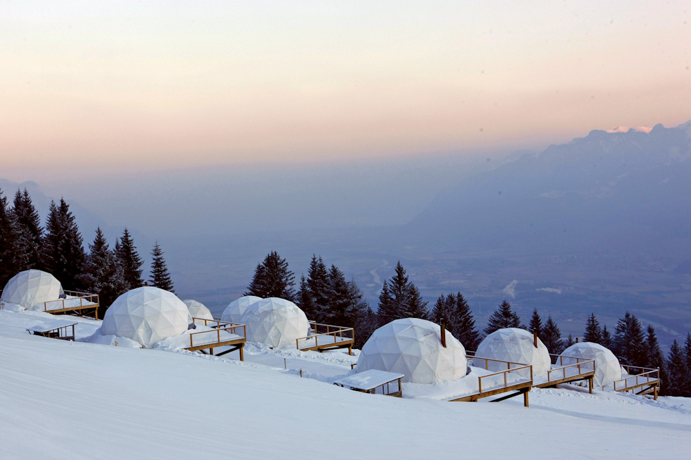 Whitepod eco chic stay Switzerland