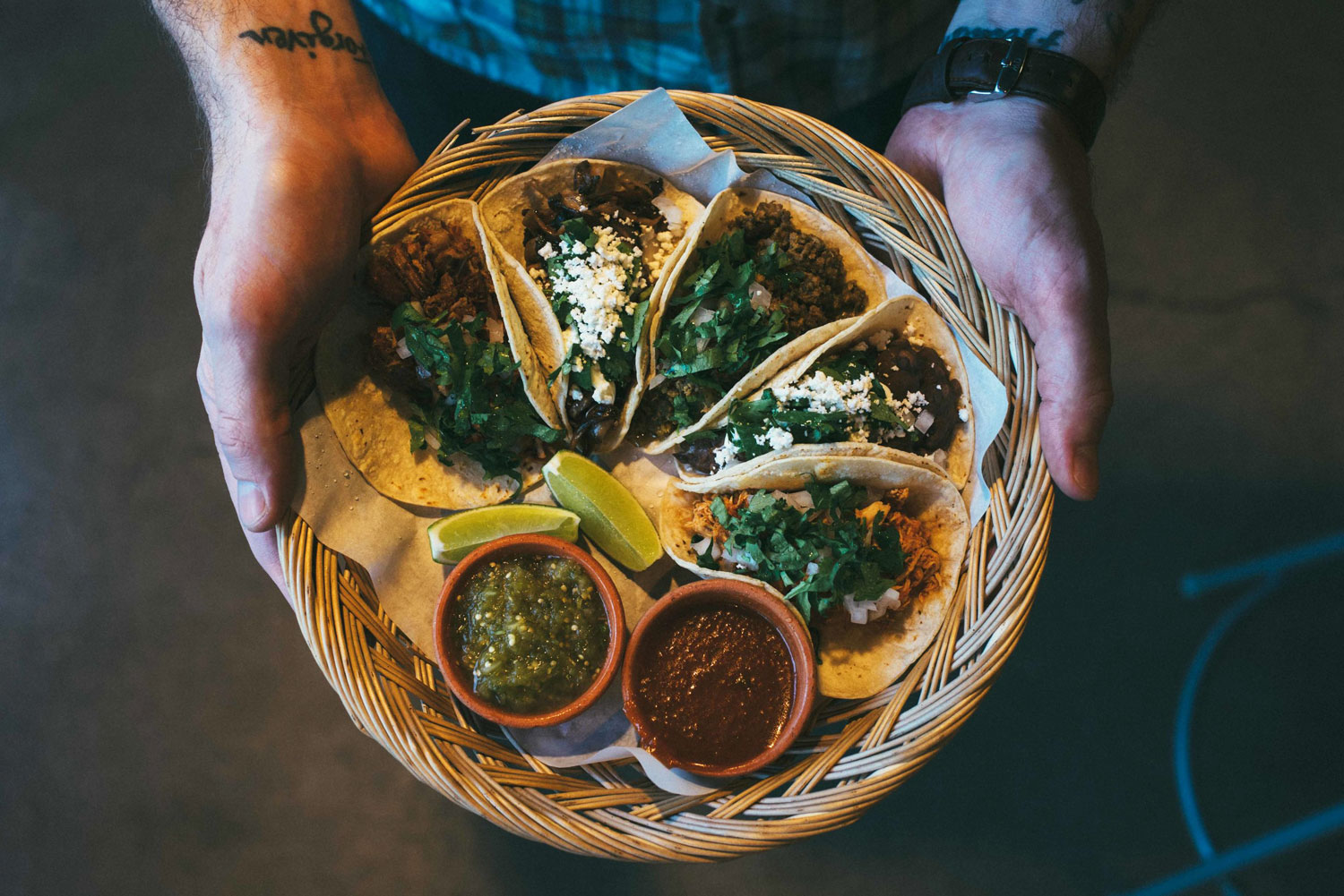 Tacos from Native Tongues Taqueria, Calgary