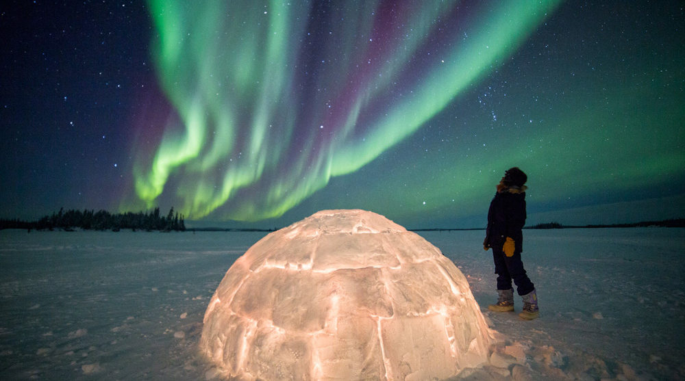 Aurora borealis Blachford Lodge Northern Territories Canada Yellowknife wilderness