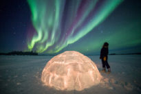 Aurora borealis Blachford Lodge Northern Territories Canada Yellowknife wilderness