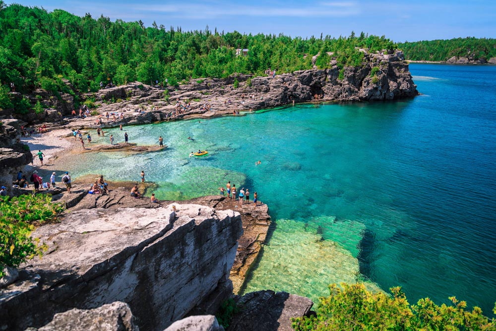 lake huron bruce peninsula canada Indian head cove
