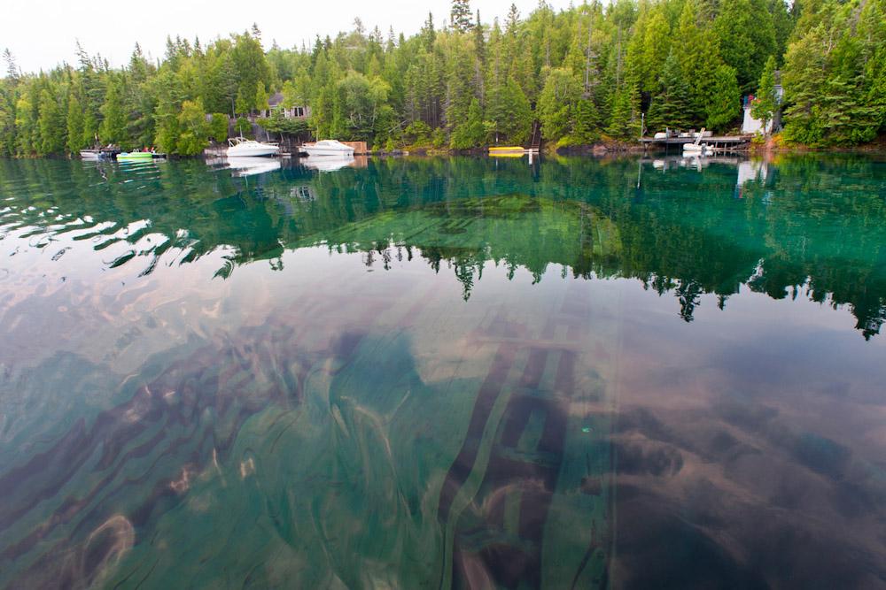 shipwreck Fathom Five National Marine Park Bruce Peninsula ontario