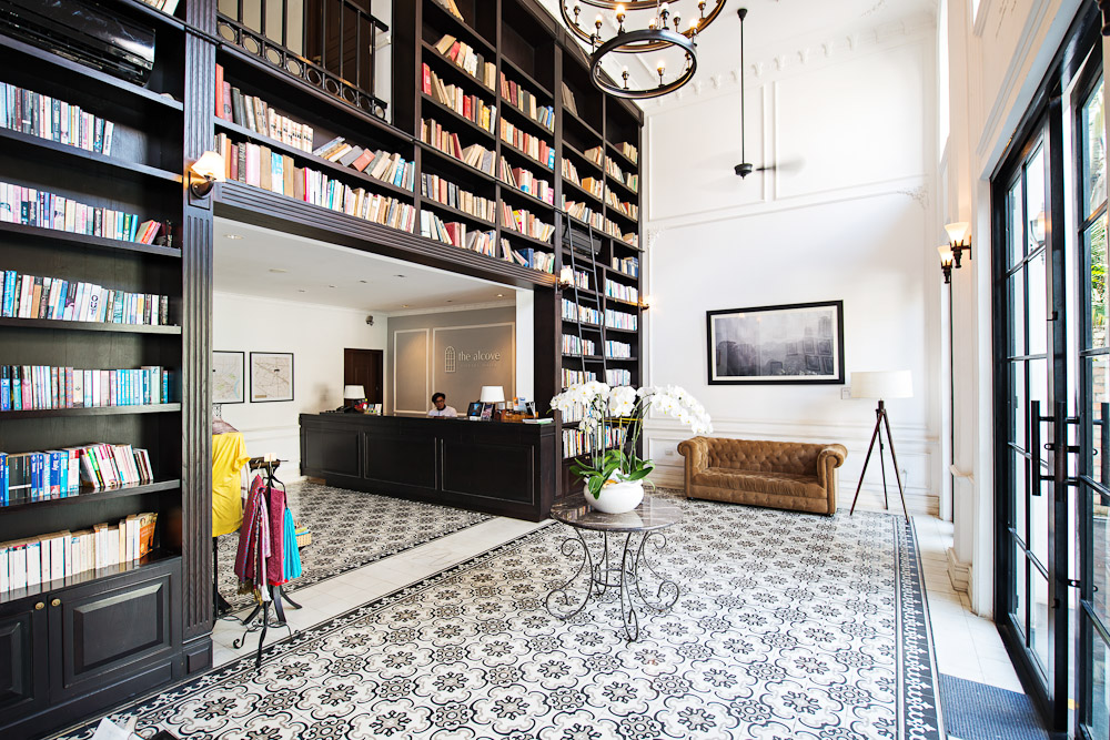 Alcove Library Hotel Ho Chi Minh bookcases