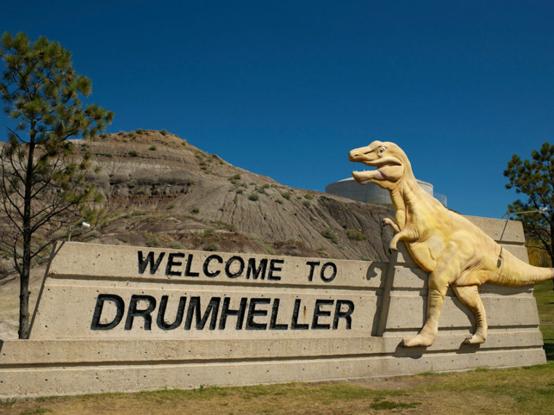 drumheller alberta dinosaur