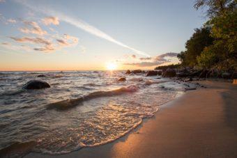 Gimli beach, Lake Winnipeg, Manitoba