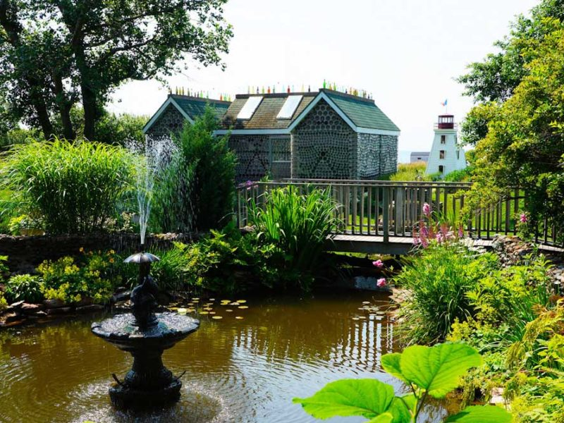 attractions prince edward garden martimes garden glass bottle houses