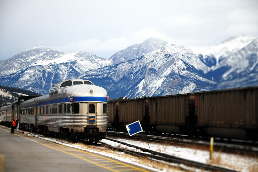 Rupert Rocket Canada railway Jasper Station