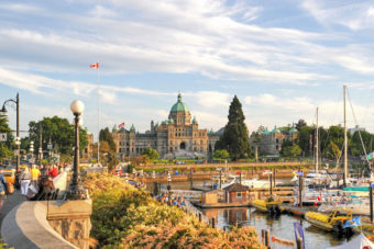 Canada British Columbia Victoria Holidays Attractions Inner Harbour and Fisherman's Wharf