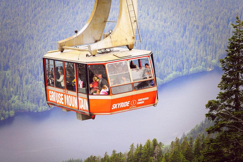 Canada Vancouver holidays skyrude grouse mountain skyride