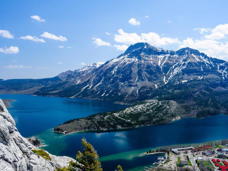 Waverton Lakes National Park Alberta Bears hump hike