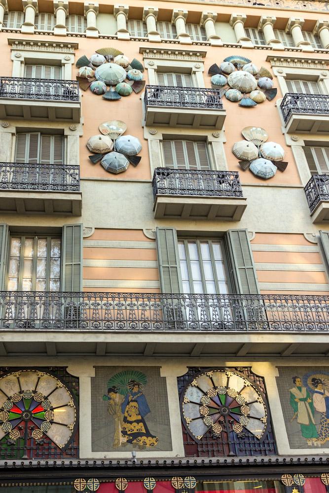 Barcelona Catalonia La Rambla Architecture Modernisme Oriental Motifs Josep Vilaseca