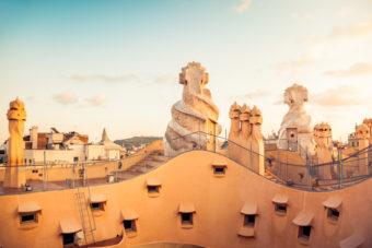 Barcelona architecture Antoni Gaudi Casa Mila