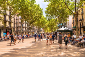 Barcelona La Rambla meeting point sights