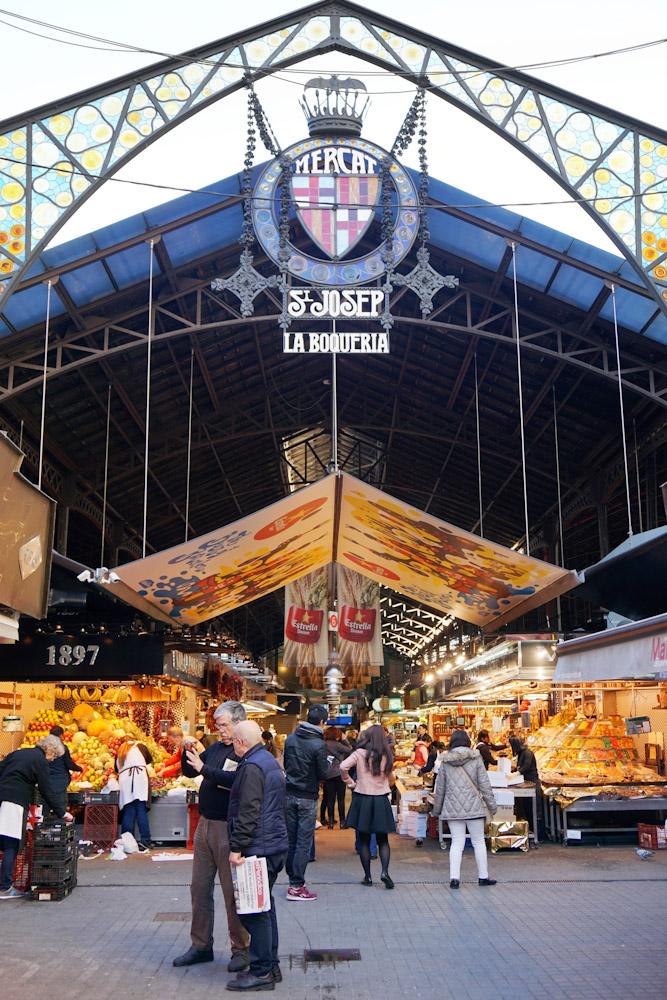 Barcelona La Boqueria market produce food eat and drink specialty food