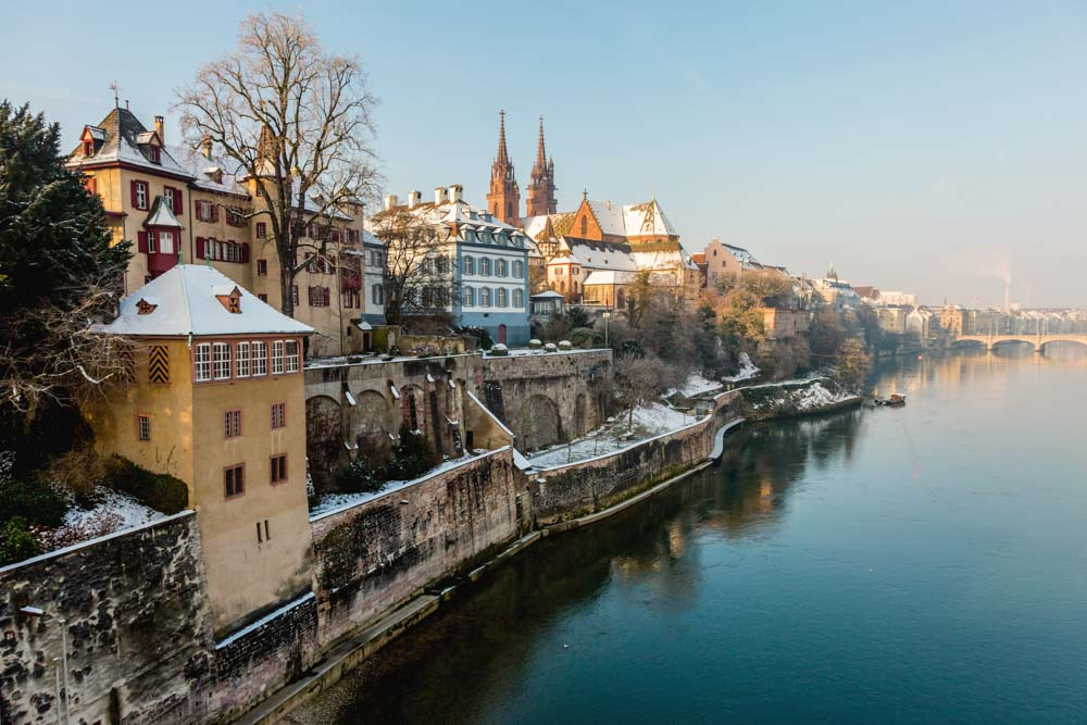 Switzerland city guide Basel Rhine river