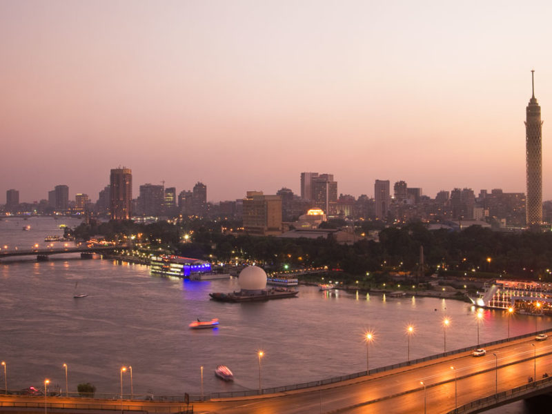 Cairo Tower over the Nile Egypt