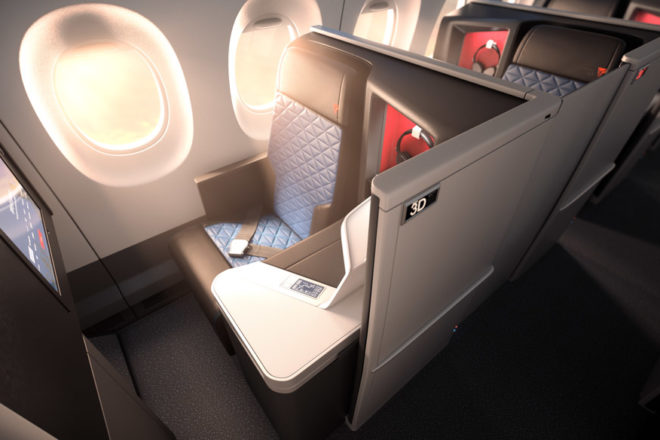 New whats hot air lines delta business class
