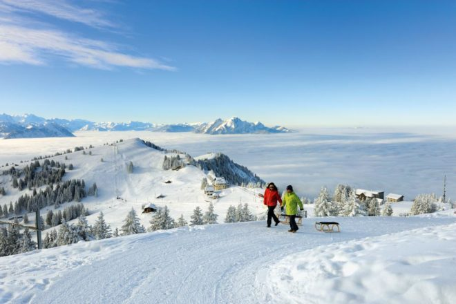 Skiing in Switzerland