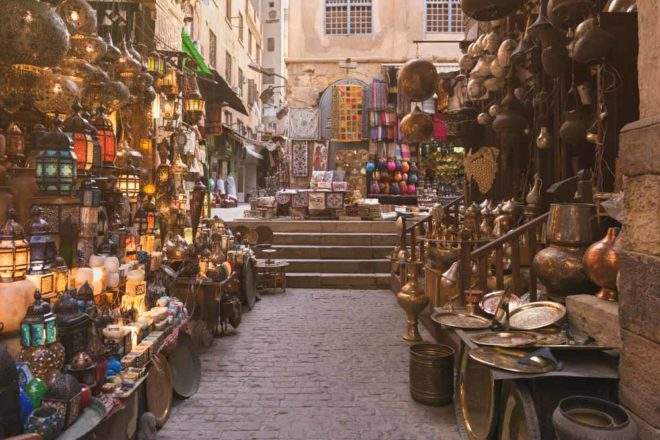 Egyptian markets shopping