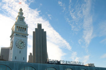 The shops and the food stands at the San Francisco Ferry Building attracts locals and tourists alike.