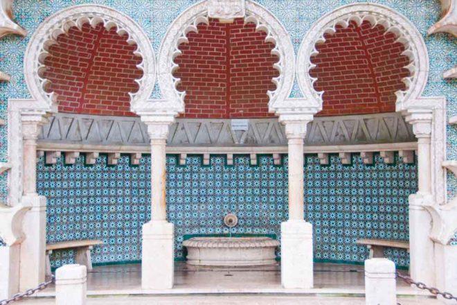Intricate azulejos tile work in Sintra