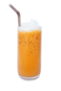 "Thai tea ""cha-yen"" cold tea"" in Thailand, is a drink made from strongly-brewed black tea."