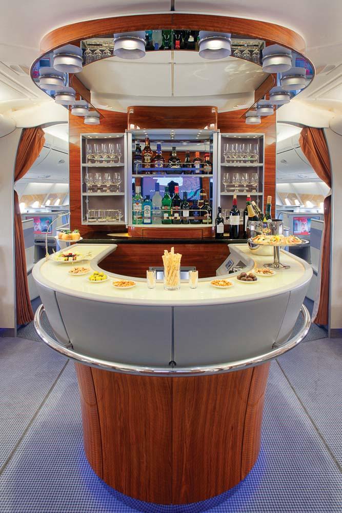 Drinks Emirates A380 business class