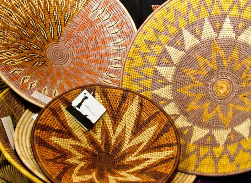 shopping woven baskets Namibia