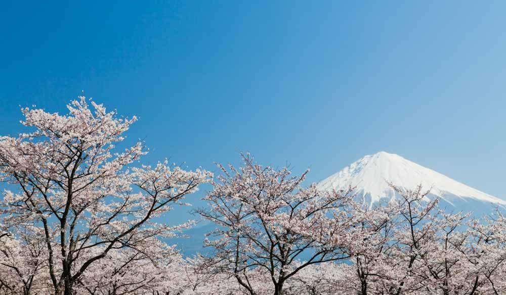 volcano mountain snow fuji