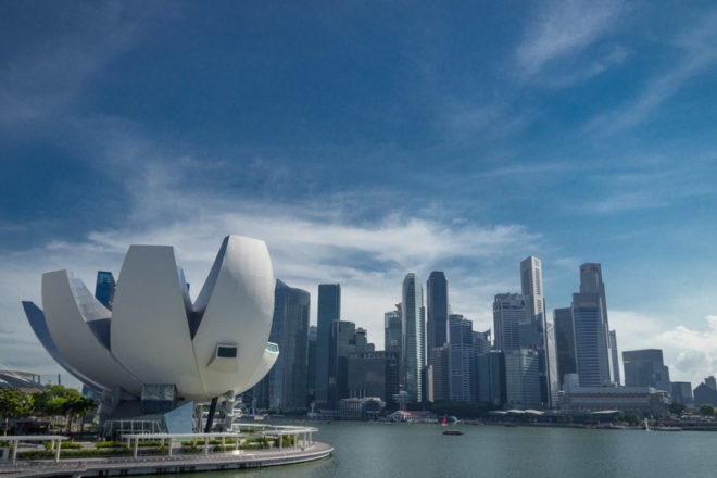 Art Science Museum and Singapore CBD