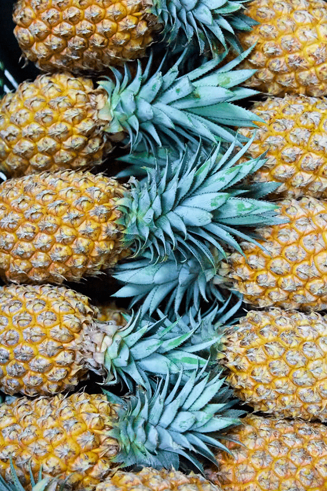 Pineapples at Noumean Markets