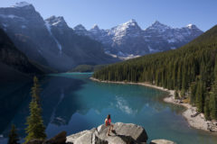 Moraine Lake near Banff, Alberta.