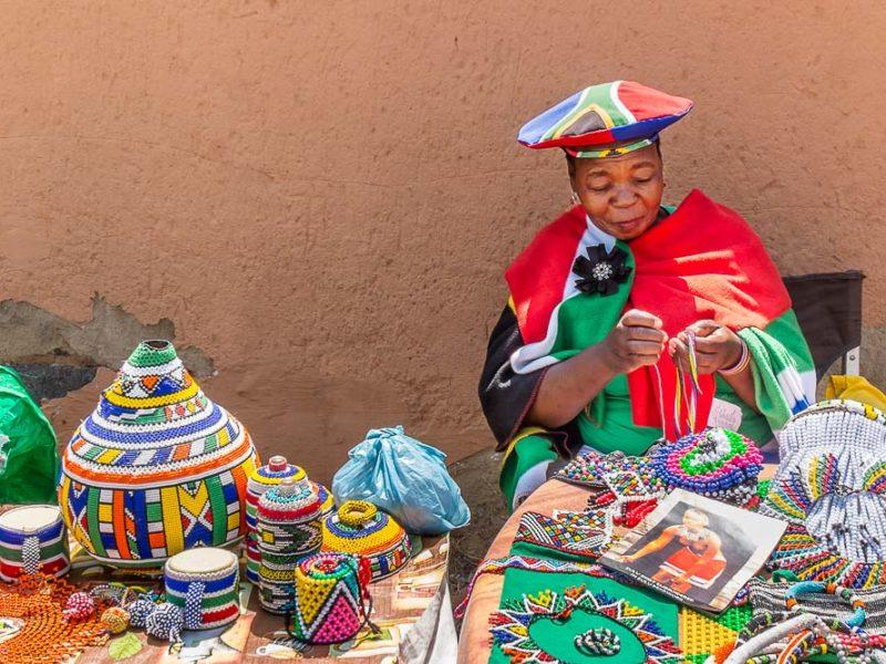 Vilakazi street, Soweto, zulu beadwork