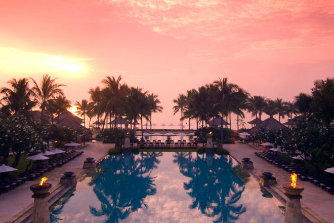 Another perfect day dawns at Conrad Bali