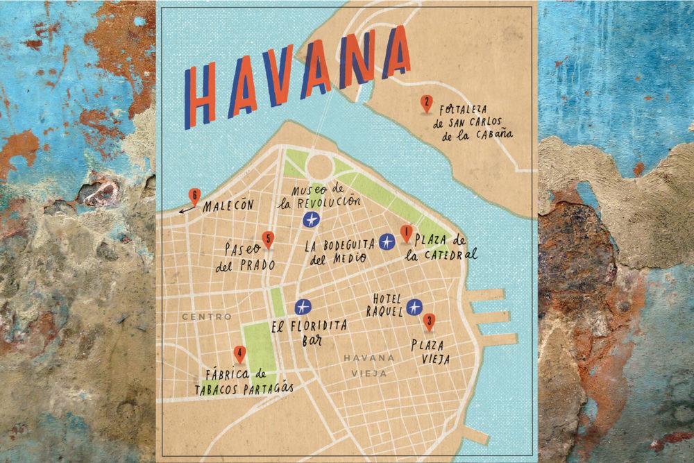 Havana, Cuba, Map