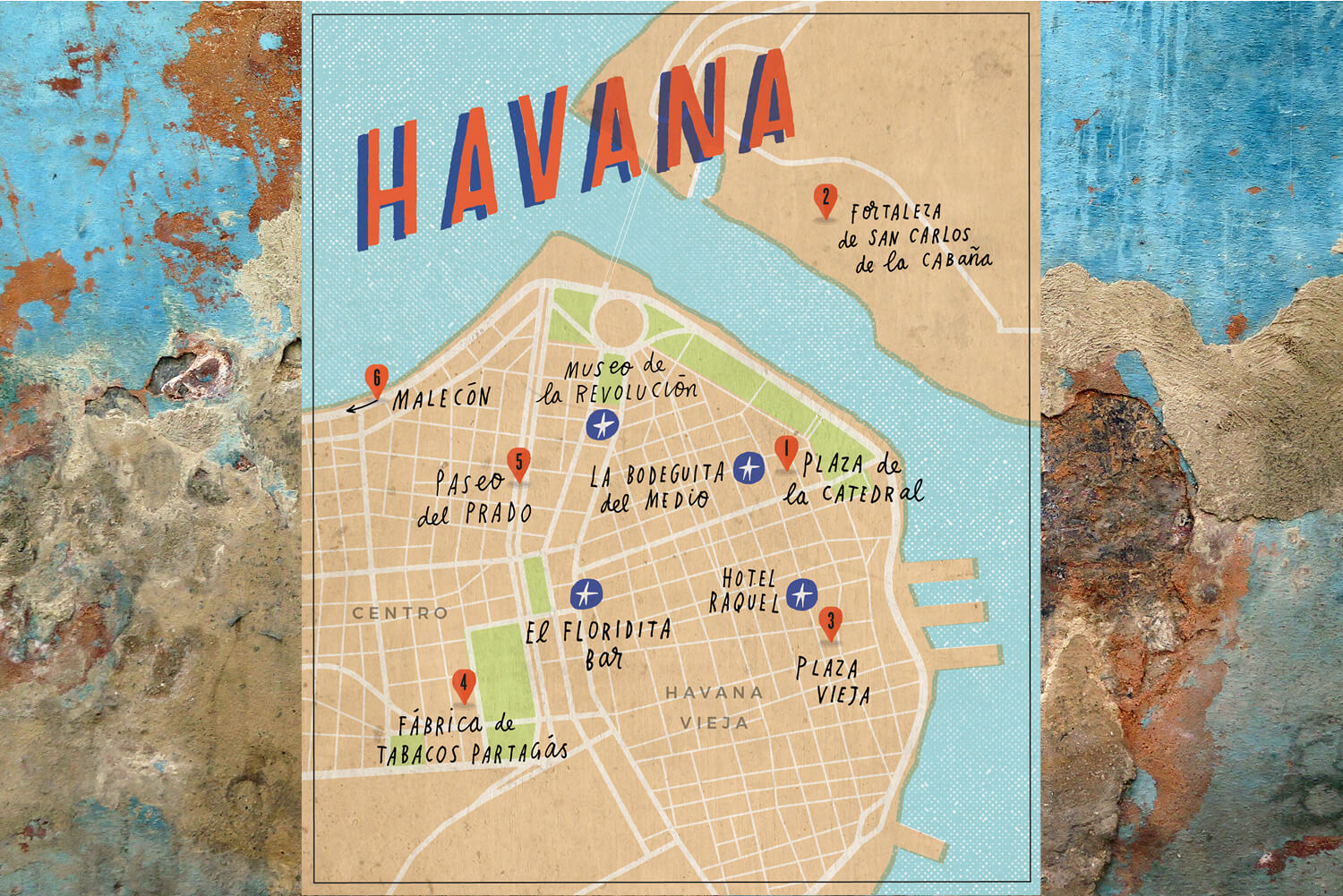 9 must see sights of old town havana international traveller 9 must see sights of old town havana havana cuba map gumiabroncs Gallery